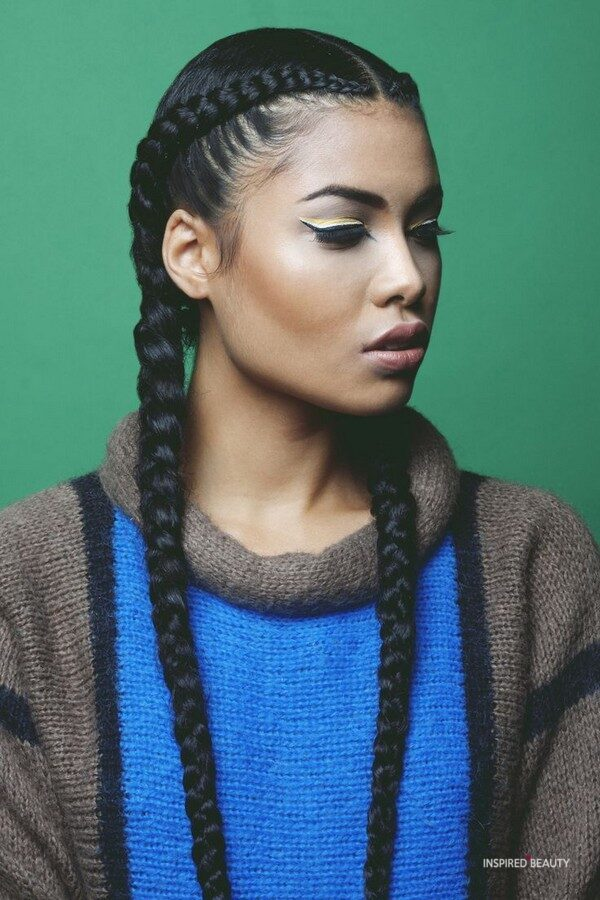 Double Goddess Braids