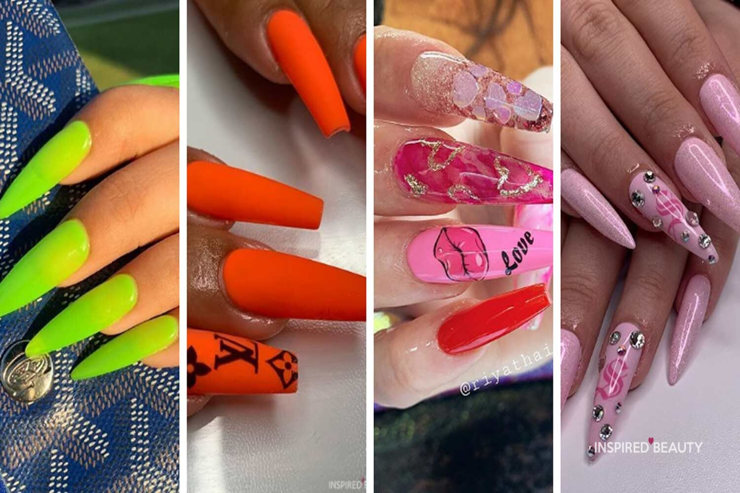 25+ Best Acrylic Nail Designs 2521   Inspired Beauty