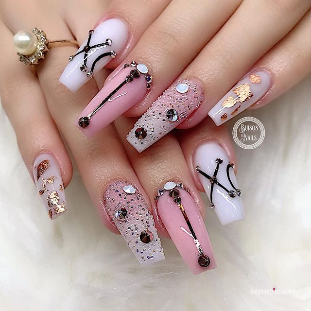 Fab Long Nails Acrylic to Spice up Your Fashion
