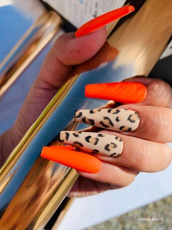 Bright Orange and Leopard print