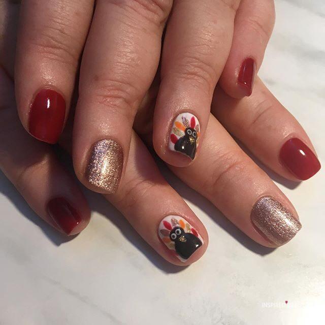 diy thanksgiving nails