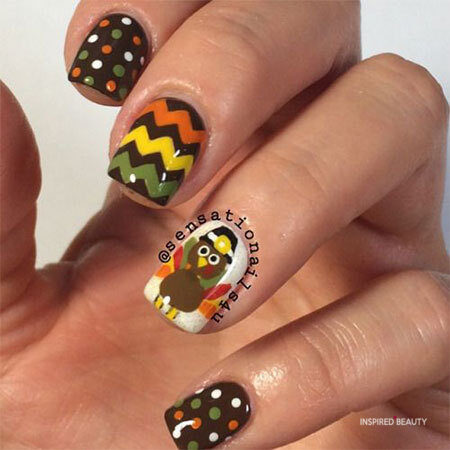 thanksgiving colors for nails