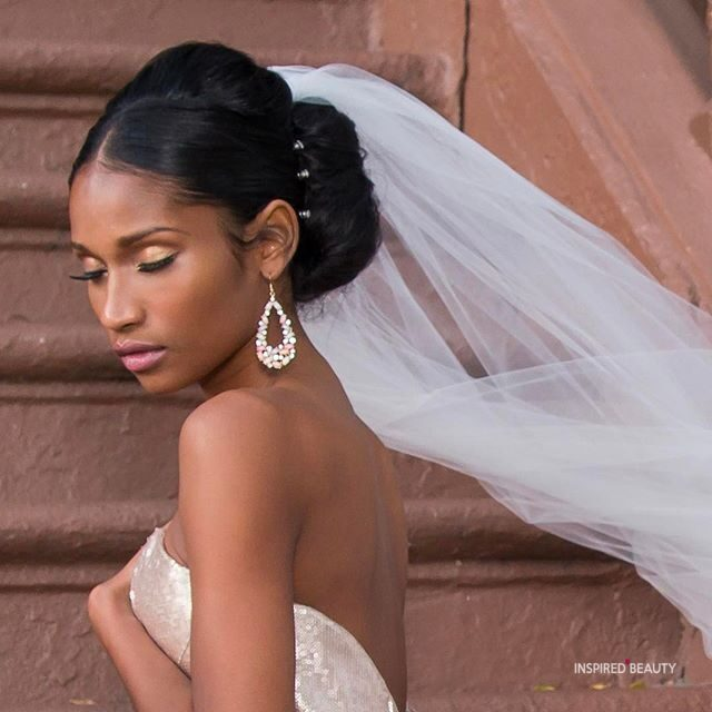african american wedding hairstyles with weave veil