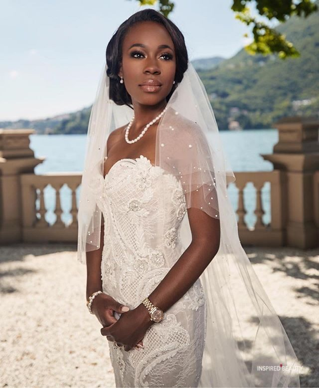 veil black women wedding hairstyles