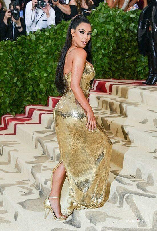 kim kardashian gold outfit