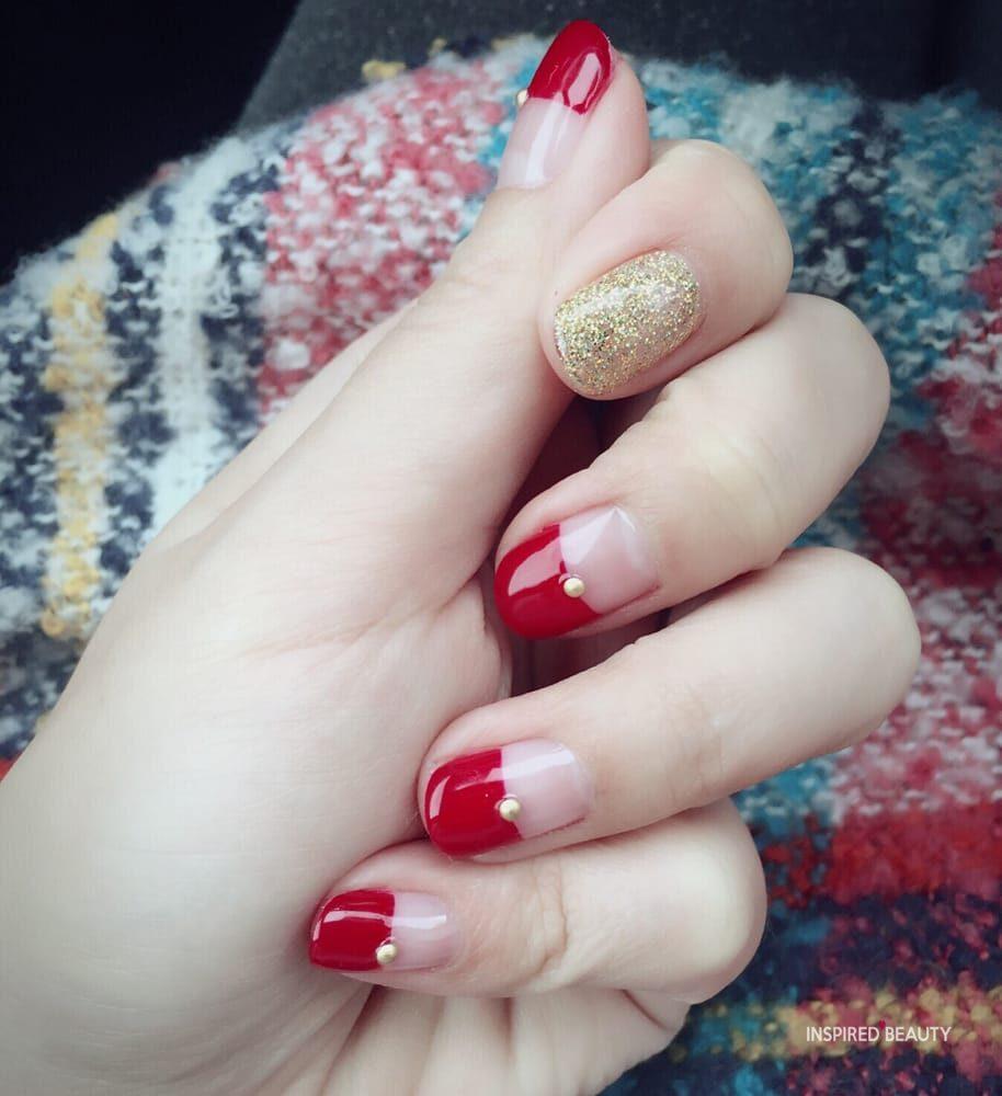Christmas gel nails
