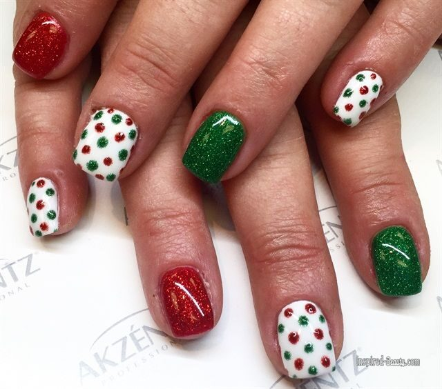 30 Easy Christmas Gel Nails With Festive Look Inspired Beauty
