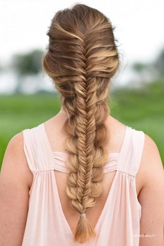 Braids hairstyle for holidays