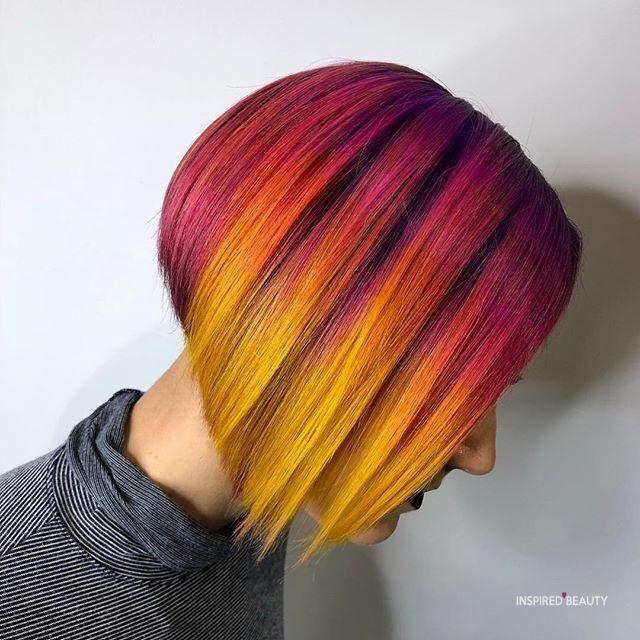 Sunset blend bob hairstyles