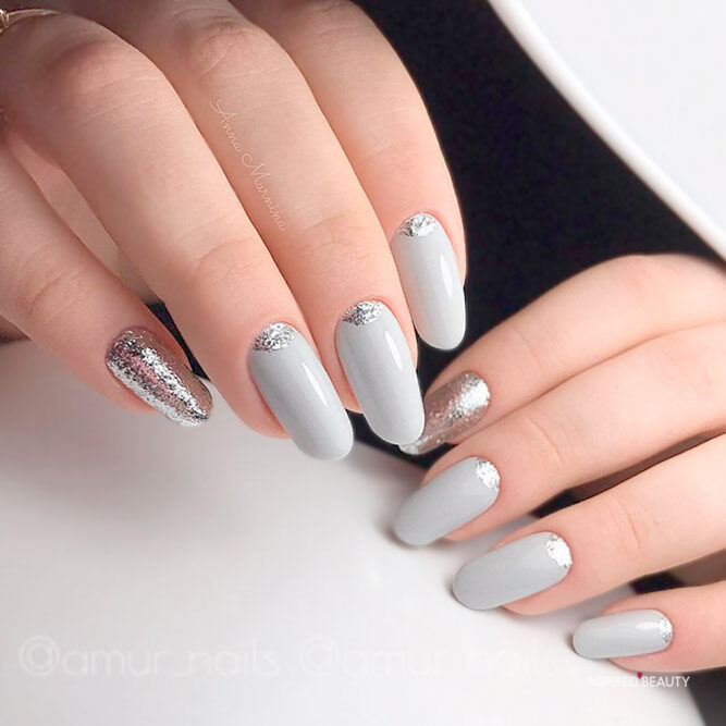 white spring trend nails idea