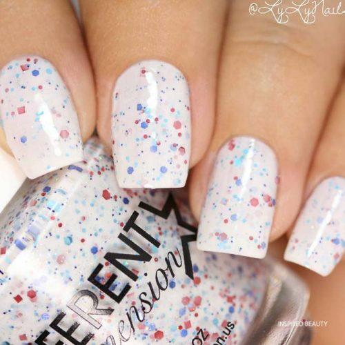 speckled easter nails