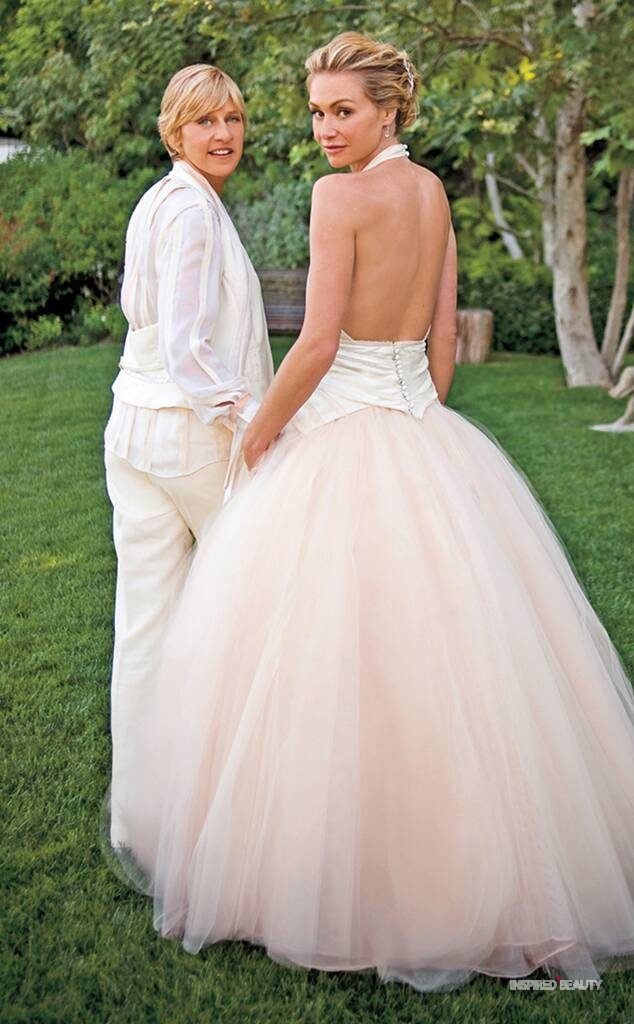Portia de Rossi Wedding Dress