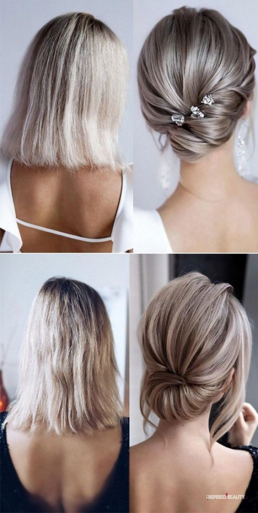Short hairstyle for a wedding