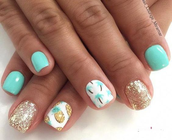 summer nails designs beach