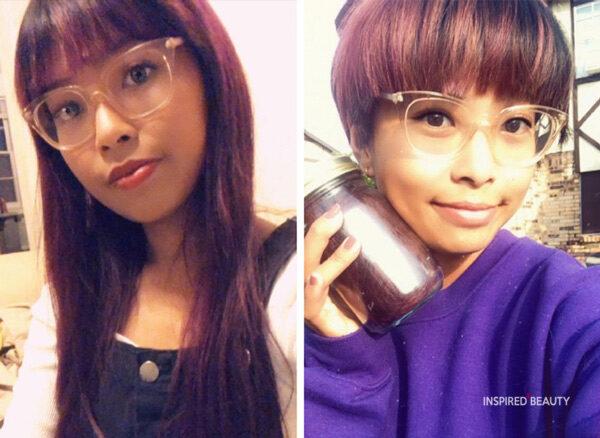 hair transformation long to short