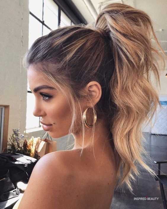 Cute high ponytail hairstyles