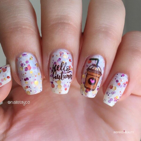 cute autumn nail designs