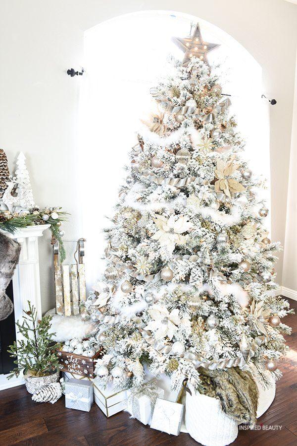 Winter wonderland Christmas tree decoration