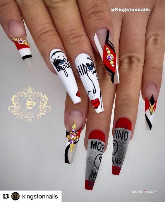 Long nail art