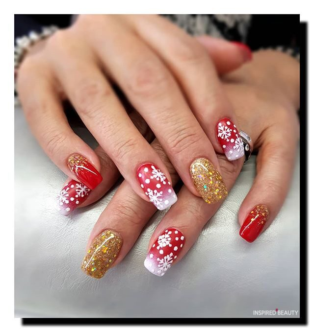 Christmas holiday nails