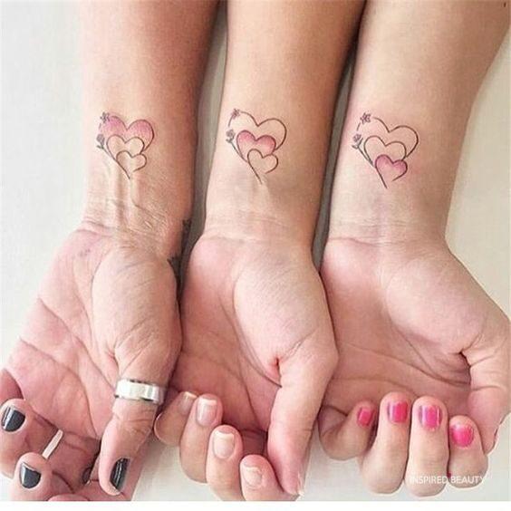 Cute heart tattoo Mini tattoos for girls
