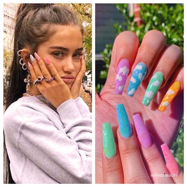 pastel nails coffin