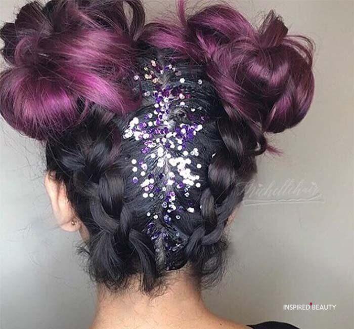 Space Bun Hairstyles