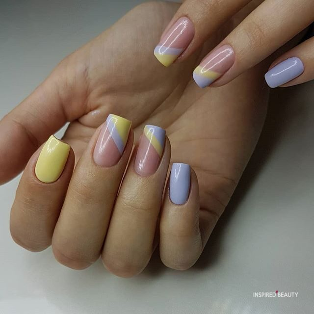 Pink Pastel Nails Coffin