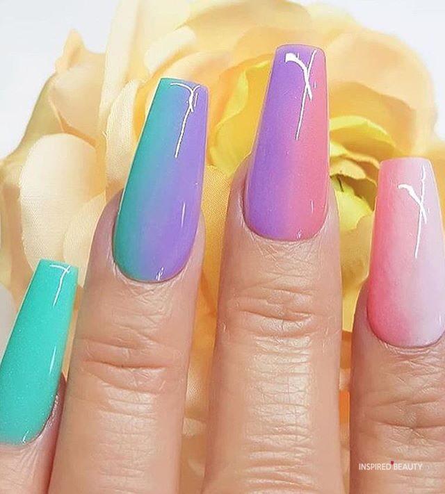 Bright summer nail designs