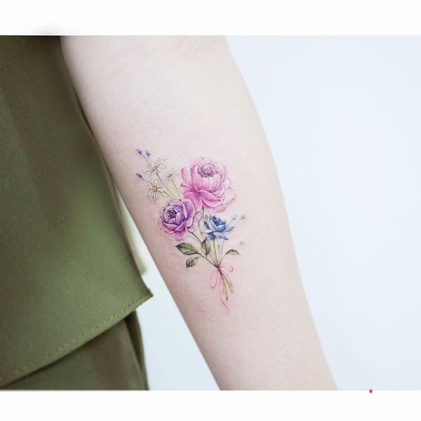 small rose tattoo designs
