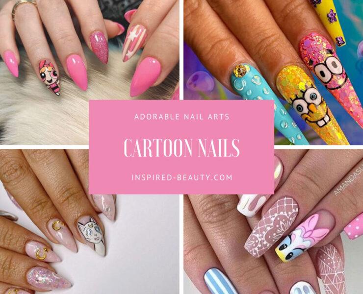 cartoon nail arts