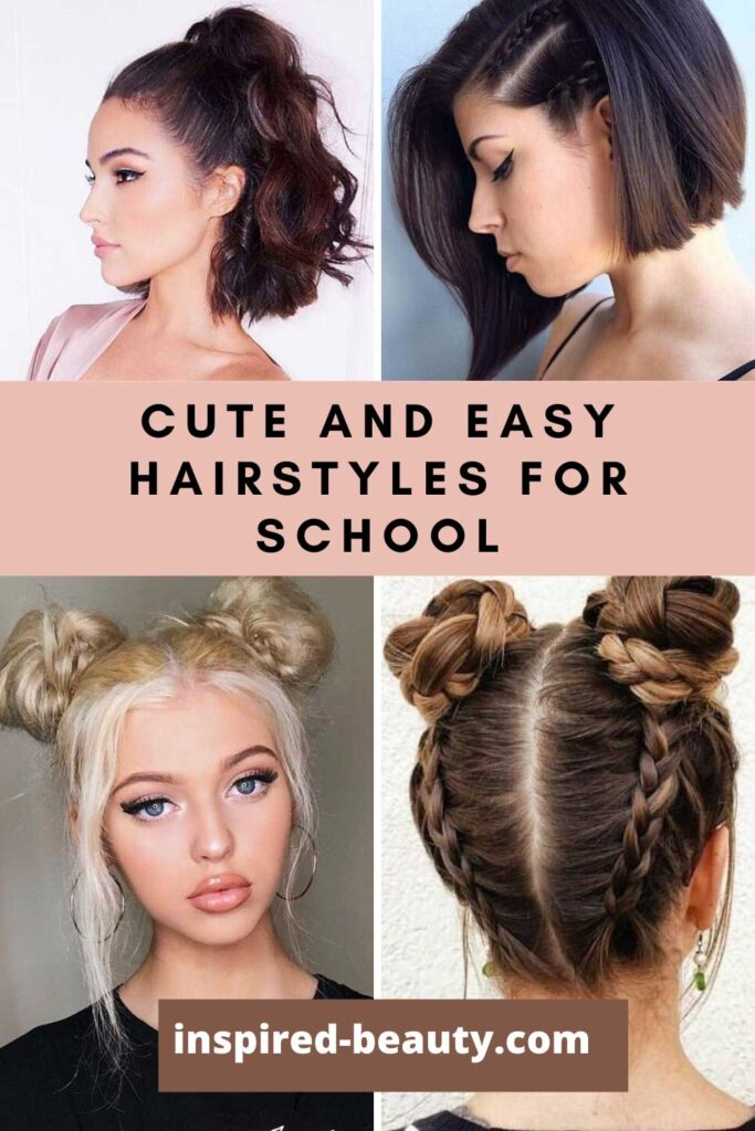 cute and easy hairstyles for school