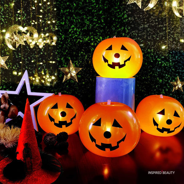 Pumpkin light Scary Halloween Decorations indoor ideas