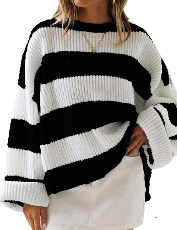 Oversized Knitted Pullover Sweater