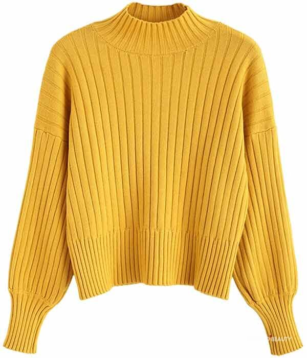 yellow fall sweater from amazon