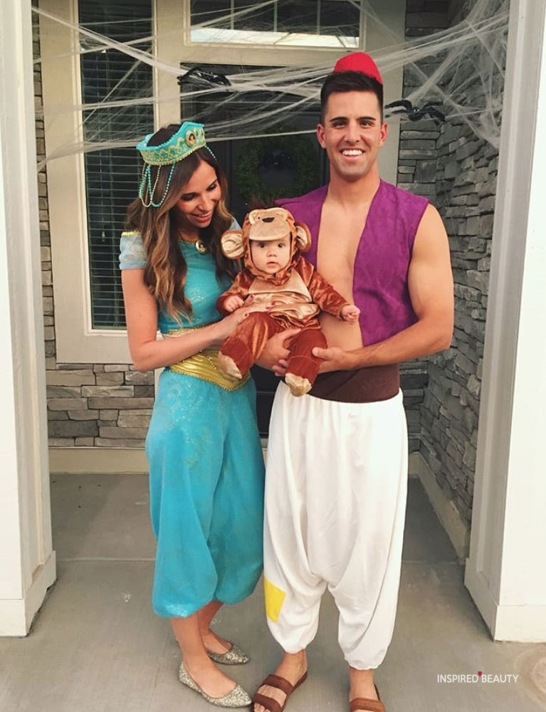 Aladdin, jasmine, Abu Halloween costume for the family
