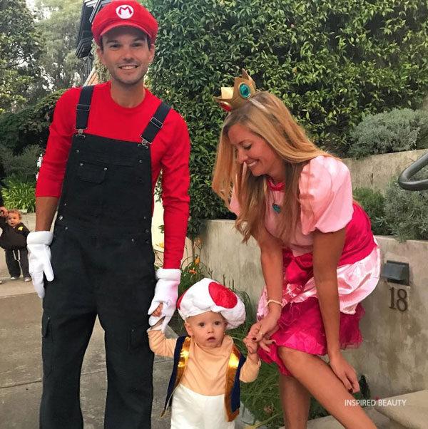 Mario and Princess Peach Halloween costume