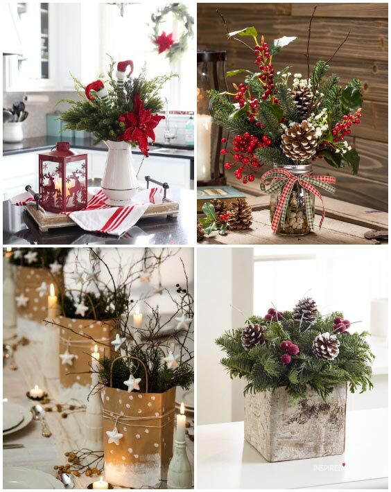 christmas centerpieces for the table