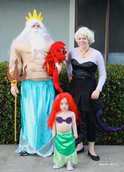 little mermaid family costumes for Halloween