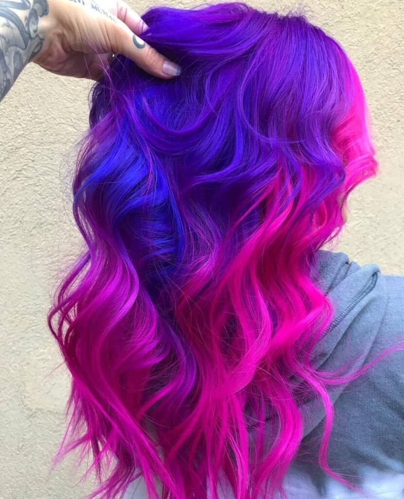 Bright and Vibrant multi color hairstyles ideas