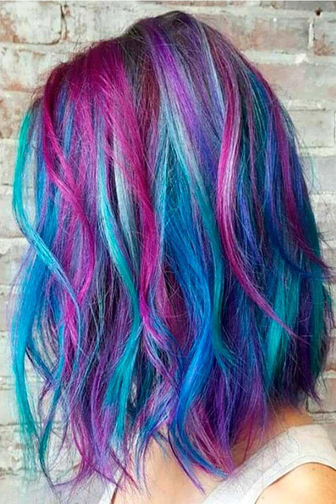 Multi color Ombre hair