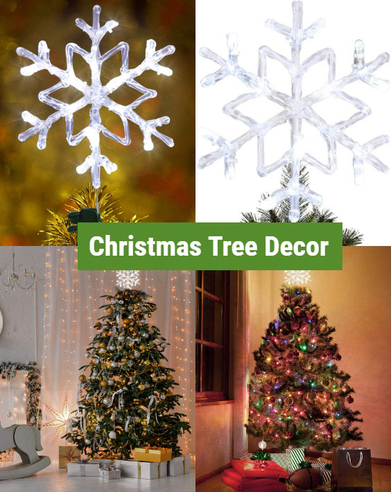 Snowflake Christmas tree decoration ideas