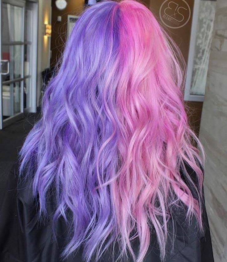 pastel pink and purple hair color ideas
