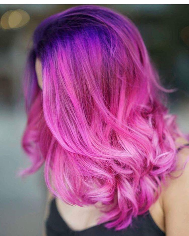 Multi Colors pink pastel hair