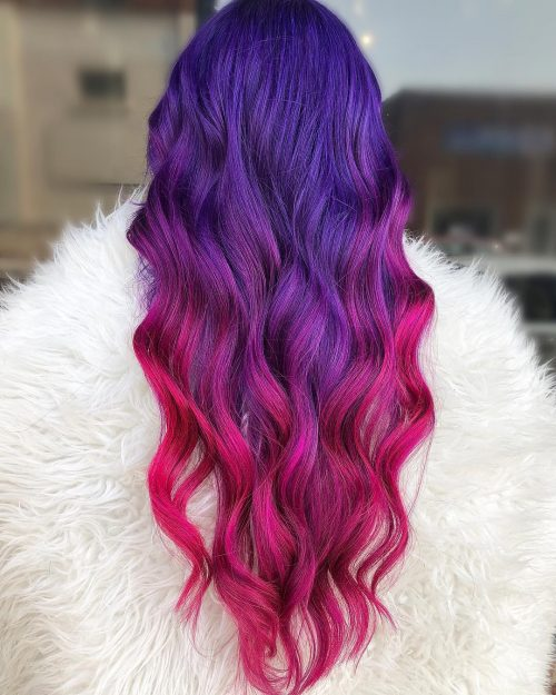 Blue, pink, and purple pastel hair color
