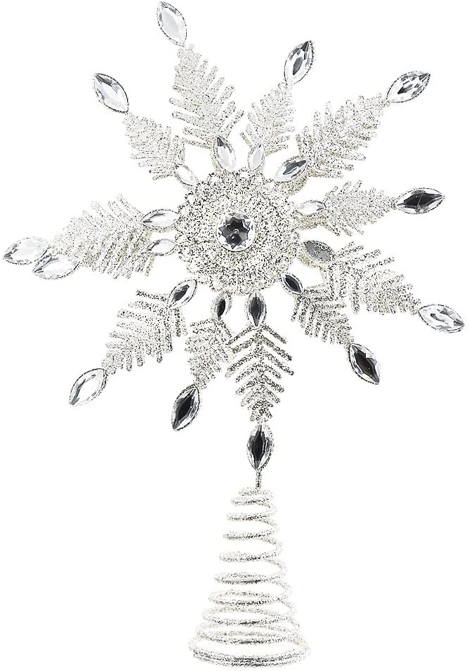 Snowflake Tree Topper Ornament