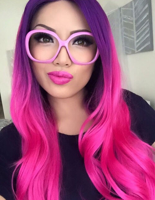 Ombre Pink and Purple hair