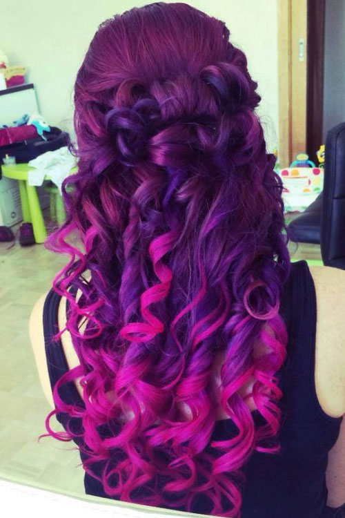 pink and purple hair dye mixed