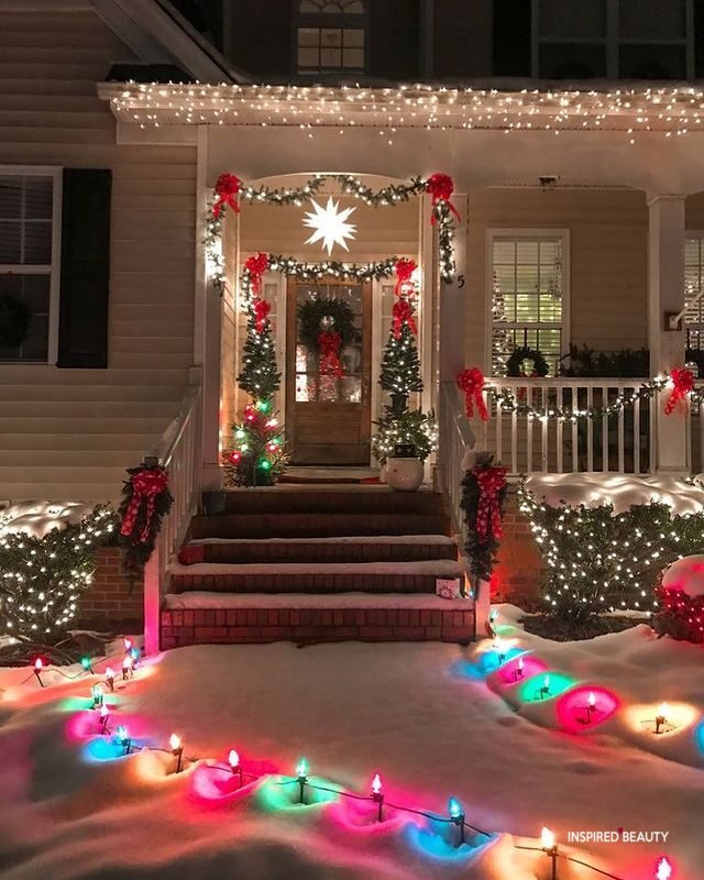 christmas outdoors decorations